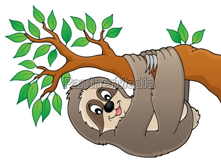 sloth on branch theme image 1