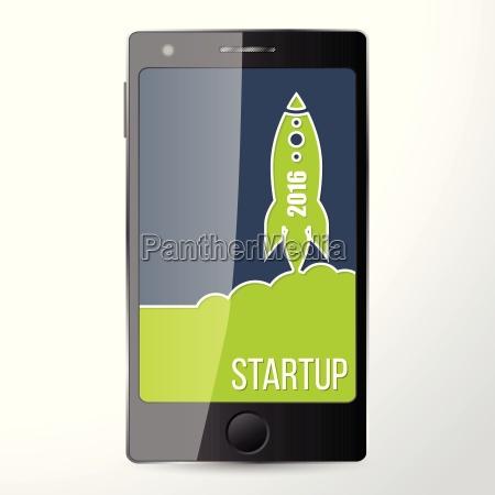 mobil startet app