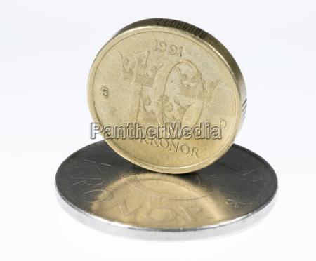 schwedische 10 krona stehend
