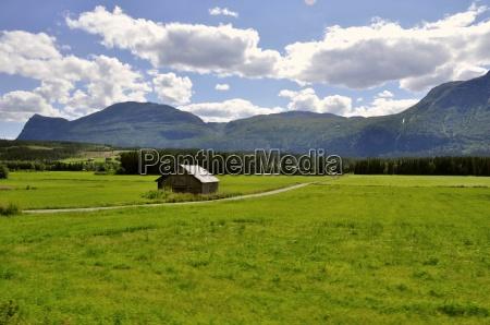 landschaft in sued norwegen