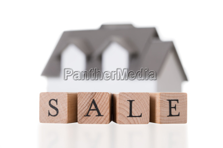 closeup of house model on sale