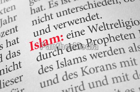 woerterbuch mit dem begriff islam