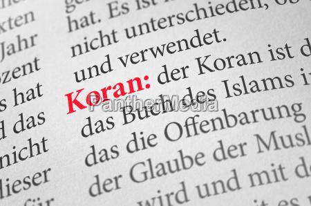 woerterbuch mit dem begriff koran