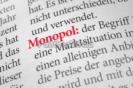 woerterbuch mit dem begriff monopol