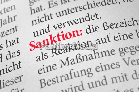 woerterbuch mit dem begriff sanktion