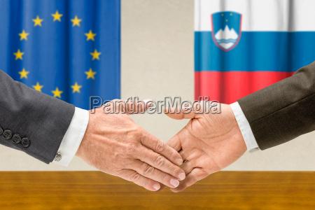 representatives of the eu and slovenia