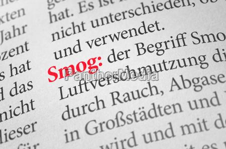 woerterbuch mit dem begriff smog
