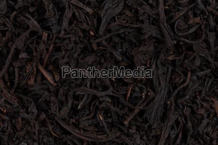 trockenen schwarzen tee