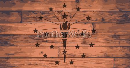 usa amerika fahne flagge planken bohlen