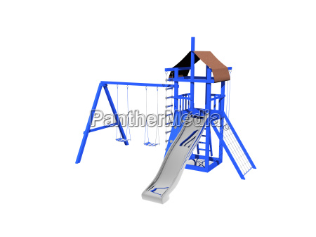 kinderspielplatz freigestellt