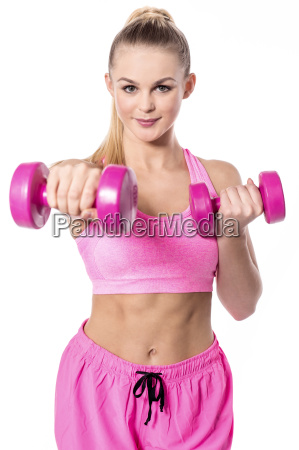 pretty woman exercising fitness