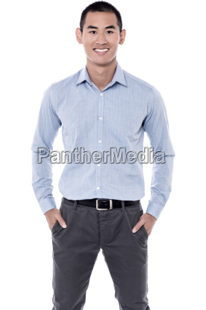 young casual man posing in style