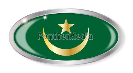 mauretanien flagge oval button