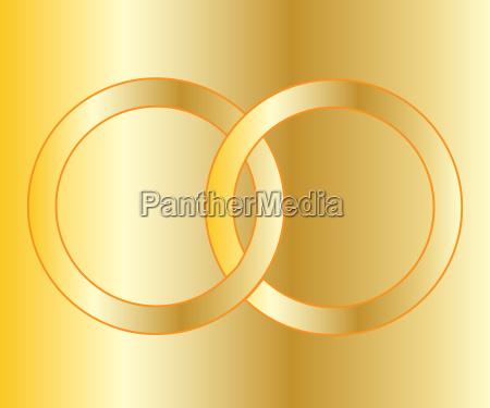 gold hochzeit bands