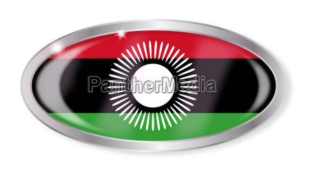 malawi flagge oval button