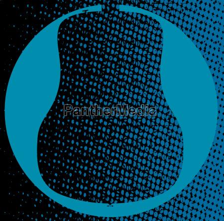 blaue gitarre hintergrund
