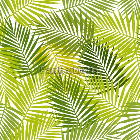 palm leaf silhouettes seamless pattern vector