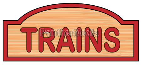 wooden trains sign