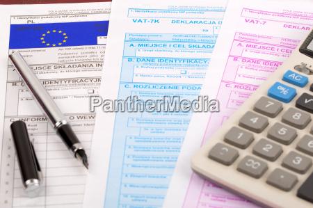 mehrwertsteuer dokumente polnisch