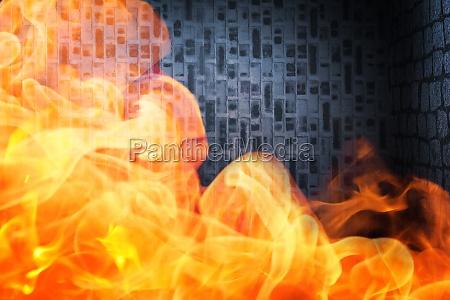 raum heiss mauer hitze brand feuer