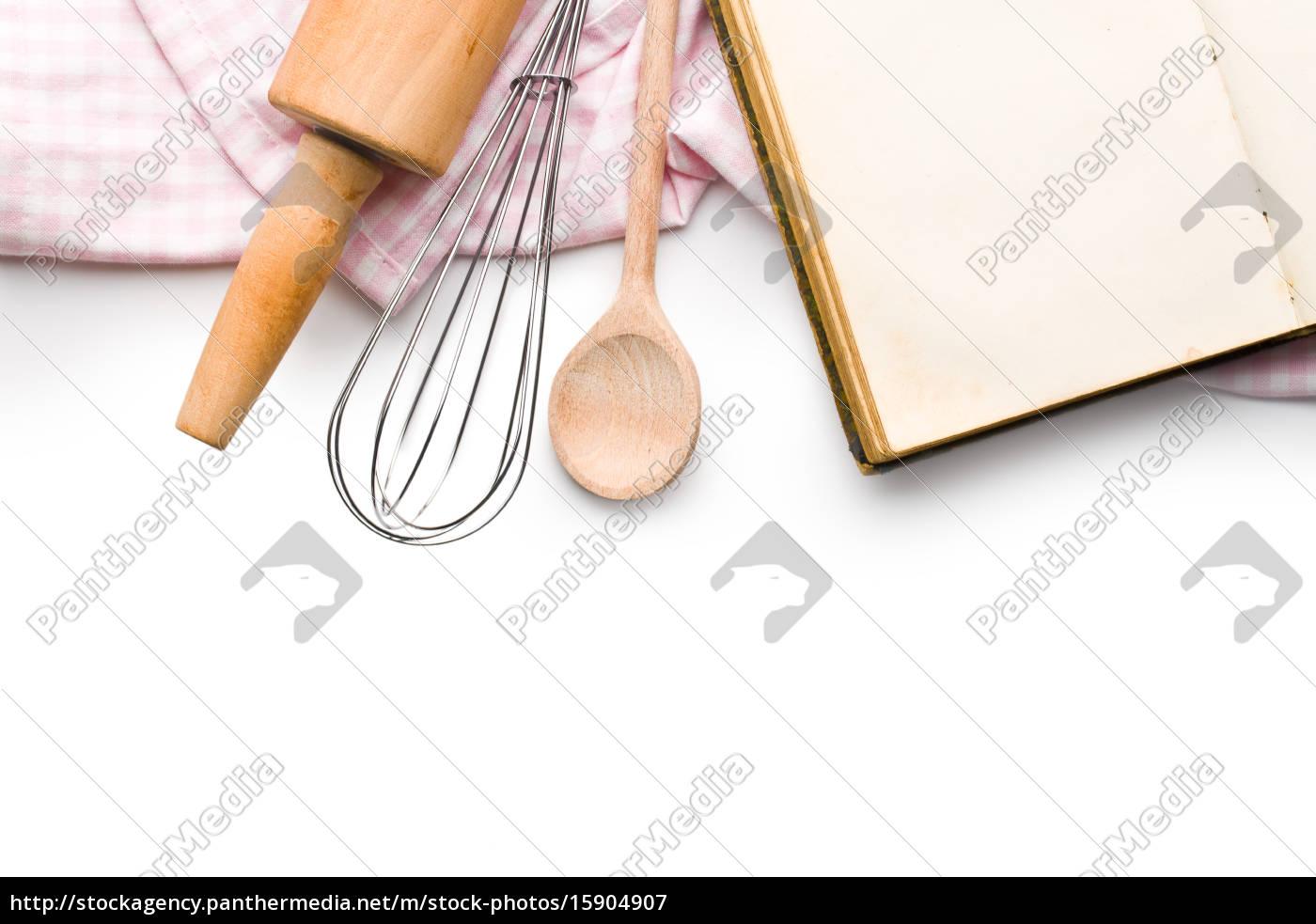 rezeptbuch und küchenutensilien - Lizenzfreies Bild - #15904907 ...