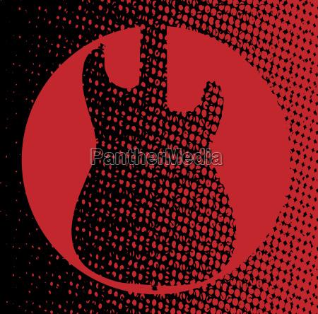 gitarre silhouette silhoutte schattenbild gitarrenspiel hintergrund