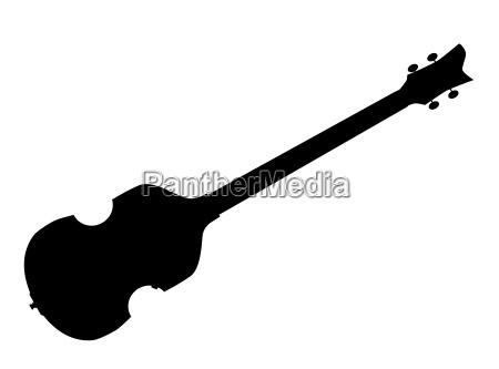 violin style bassgitarre silhouette