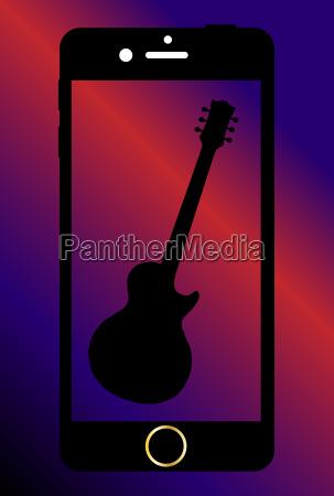 handy mit gitarre