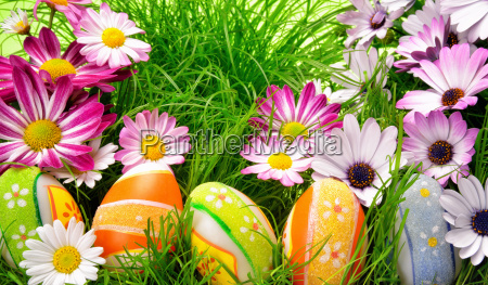 colorful easter decoration