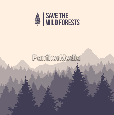 save the wild forests tree landscape