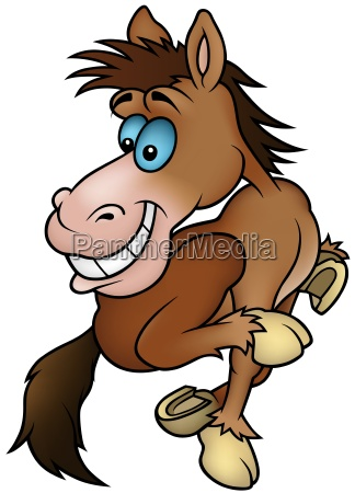 brown running horse
