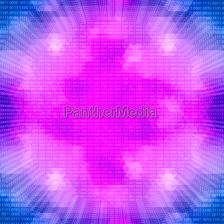 science concept purple glowing quantum processor