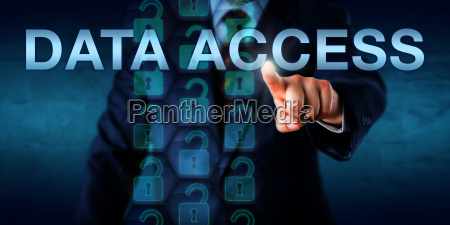 administrator pushing data access onscreen