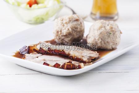 bavarian pork roast on a plate