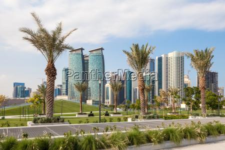 park in der stadt von doha