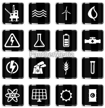 stromerzeugung einfach icons