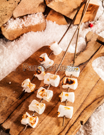 delicious soft melted grilled marshmallows