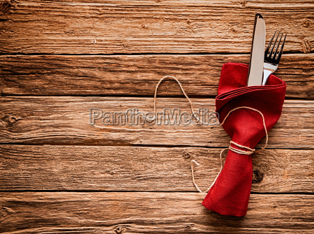 colorful rustic festive place setting with