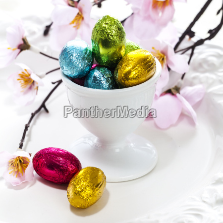 colorful foil wrapped easter eggs