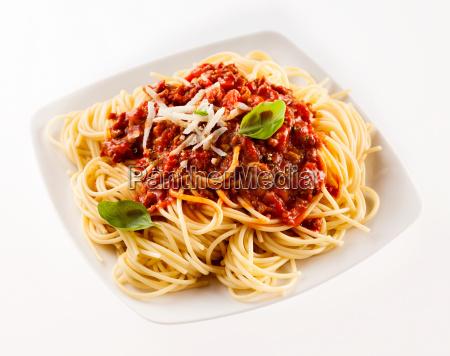 delicious traditional italian spaghetti bolognese
