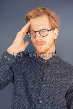 portrait of red haired young man