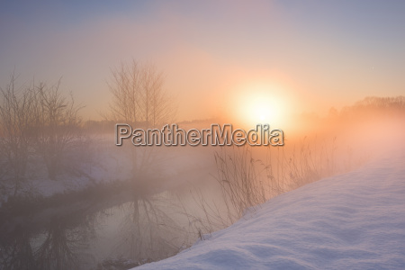 winter landscape with color look