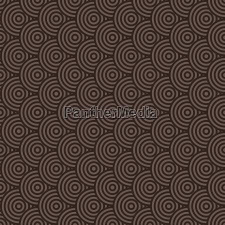 nahtlose bunte abstrakte moderne konzentrische kreise