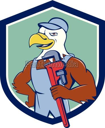 bald eagle klempner monkey wrench crest
