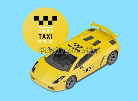 taxi auto luxus service vektor