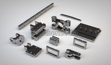 verchromtes metall details unterschiedliche mechanismen