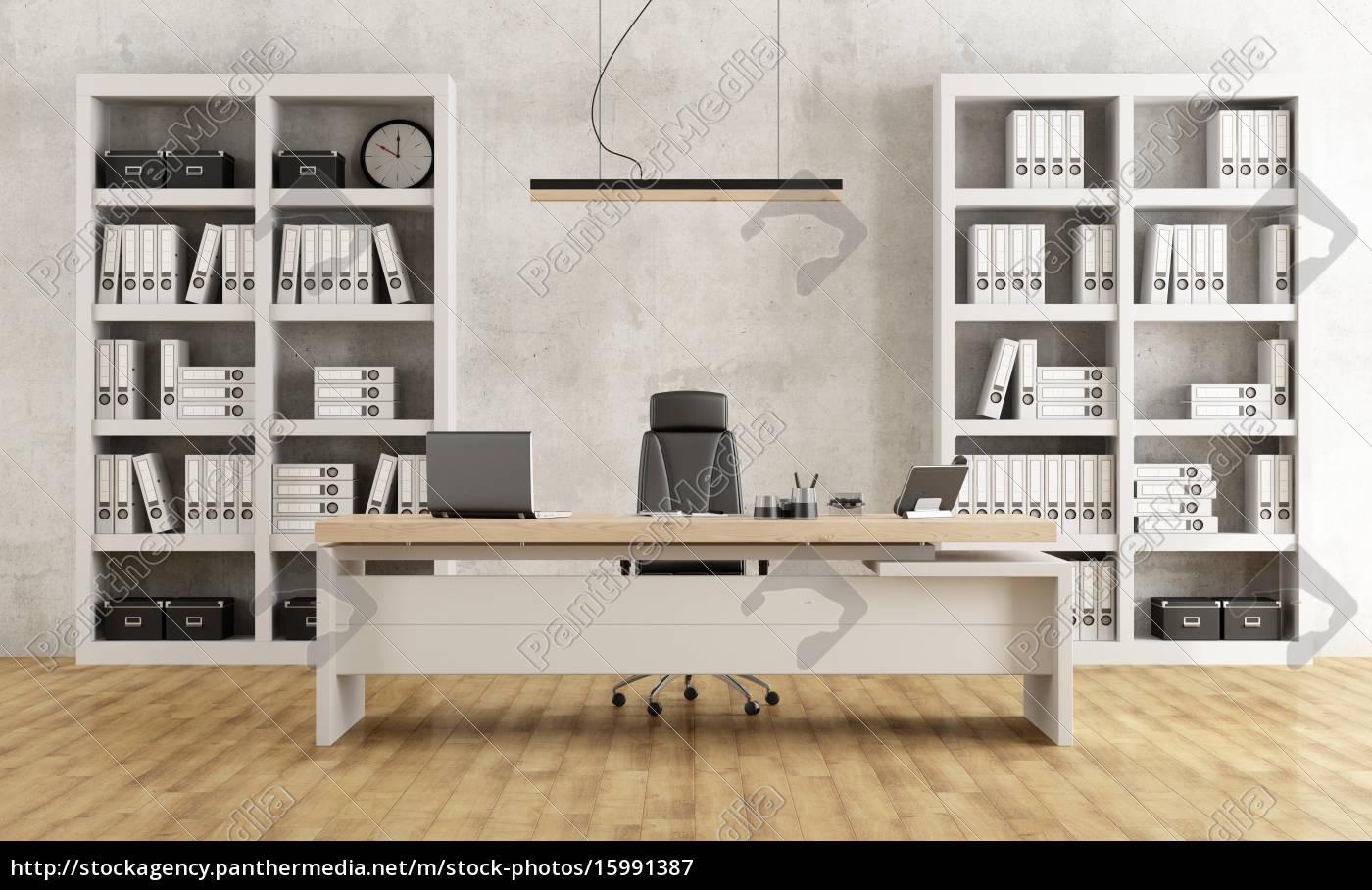 schwarz und weiß moderne büro - Lizenzfreies Bild - #15991387 ...