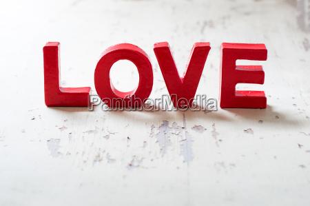 love buchstaben background