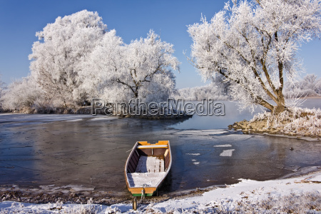 river landscape in the winter