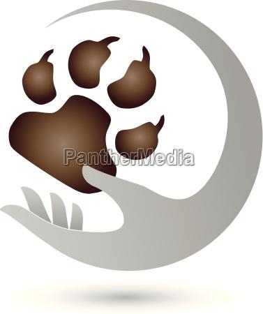 hand und pfote hunde logo